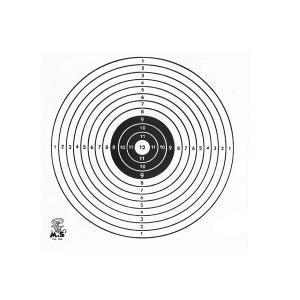 Schietkaart 11x11cm 1 Roos