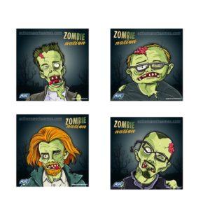 Asg Zombie Nation Schietkaart 100stuks